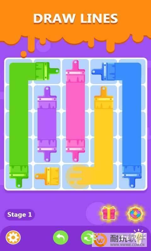 彩色线条的谜题图1